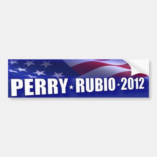 Rick Perry - Marco Rubio 2012 Etiqueta De Parachoque