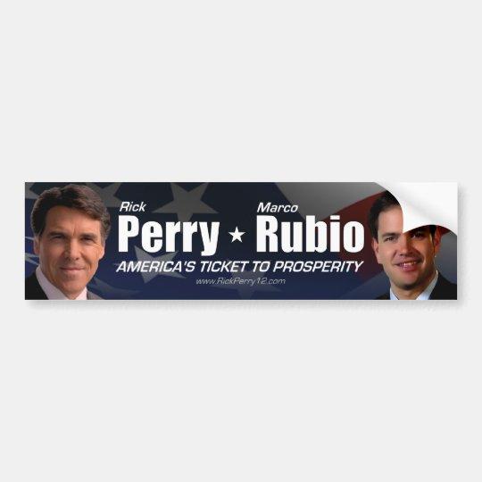 Rick Perry - Marco Rubio Bumper Sticker