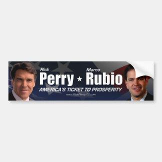 Rick Perry - Marco Rubio Pegatina Para Auto