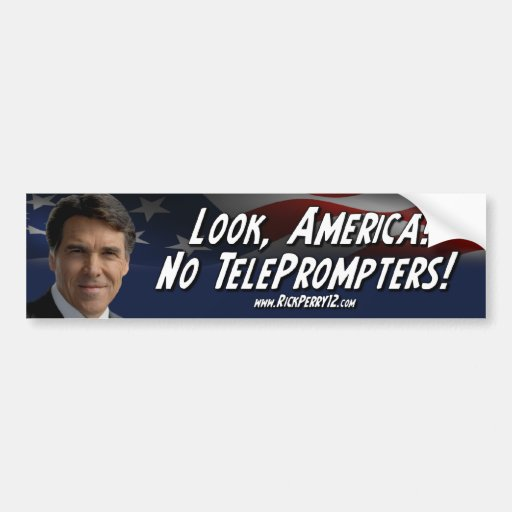 Rick Perry - ningún tablero televisivo Pegatina Para Auto
