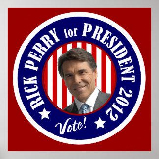 Rick Perry para el presidente poster 2012