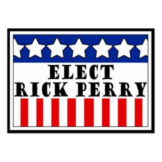 Rick Perry para el presidente Tarjetas De Visita Grandes