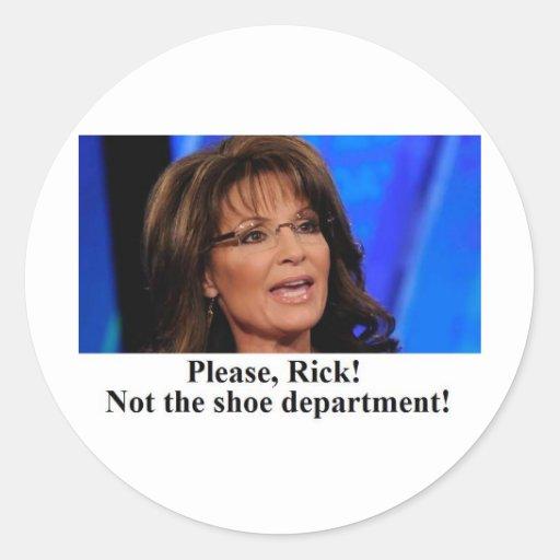 Rick Perry se preocupa a Sarah Palin (el img del Pegatina Redonda