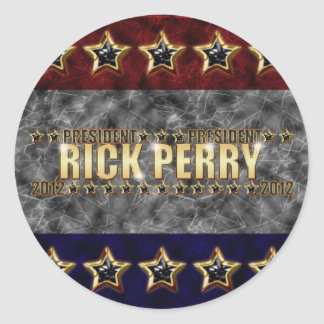 Rick Perry Stars and Stripes. Classic Round Sticker