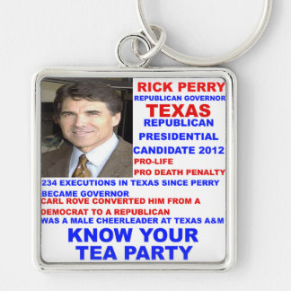 Rick Perry, Tea Party Governor of Texas Keychain
