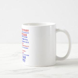 Rick Perry, Tea Party Governor of Texas Classic White Coffee Mug