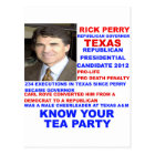 Rick Perry, Tea Party Governor of Texas Postcard