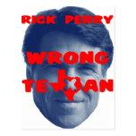 Rick Perry - Texan incorrecto Postal