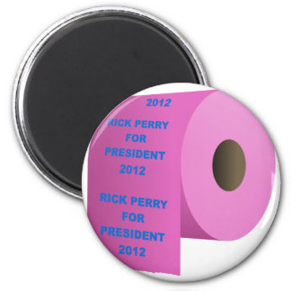 Rick-Perry-toilet_paper_roll 2 Inch Round Magnet