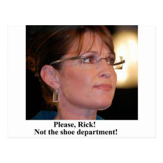 Rick Perry worries Sarah Palin Postcard