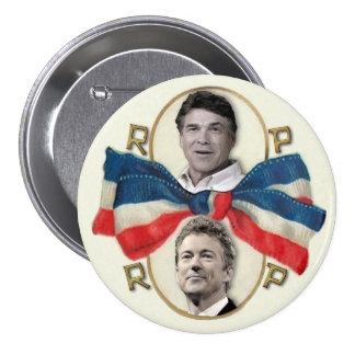 Rick Perry y rand Paul 2016 Pin Redondo De 3 Pulgadas