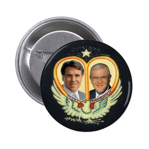 Rick Perry's Dream Ticket Pinback Button