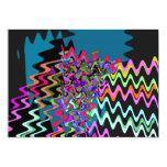 "Rick Rack Sonic Waves 5"" X 7"" Invitation Card"