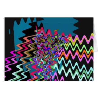 Rick Rack Sonic Waves Greeting Card