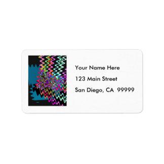 Rick Rack Sonic Waves Address Label