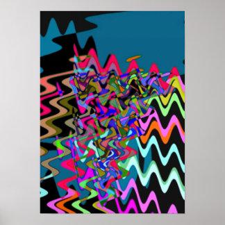Rick Rack Sonic Waves Print
