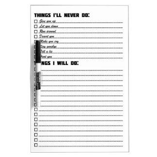 Rick Roll Board Dry-Erase Whiteboard