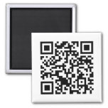 Rick Roll QR Code Rickrolled 2 Inch Square Magnet