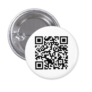 Rick Roll QR Code Rickrolled Pinback Button
