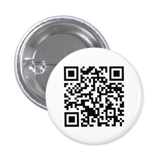 Rick Roll QR Code Rickrolled Pinback Button
