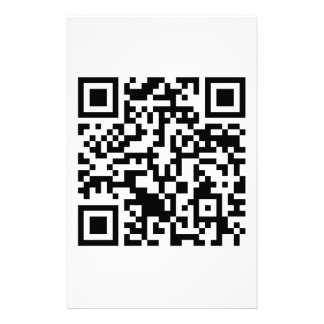 Rick Roll QR Code Rickrolled Personalized Stationery