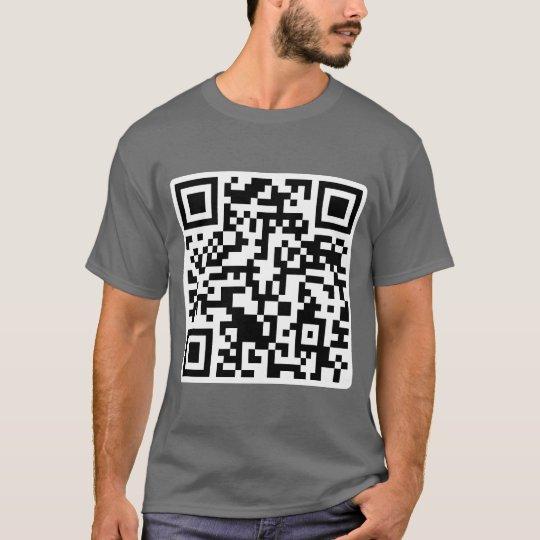 Rick Roll QR CODE Rickrolled T-Shirt
