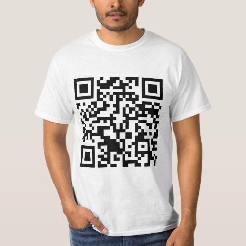 Rick Roll QR Code Rickrolled T_Shirt