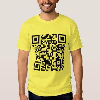 Rick Roll QR code Rickrolled Tee Shirts