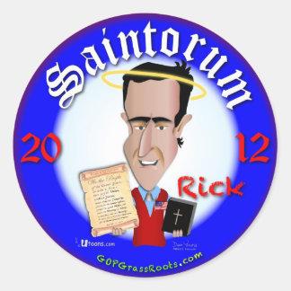Rick Saintorum Classic Round Sticker