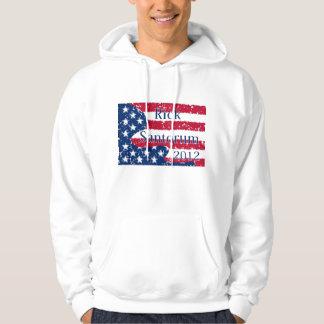 Rick Santorum 2012 Altered US Flag Hoodie