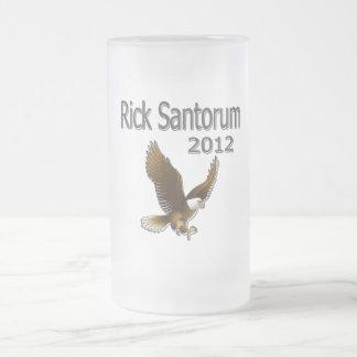 Rick Santorum 2012 black Frosted Glass Beer Mug