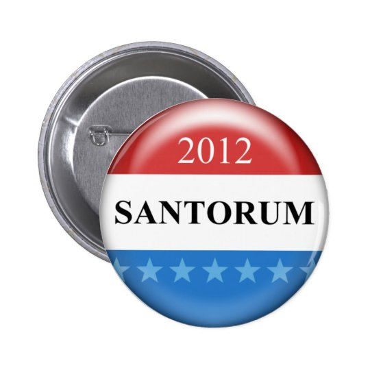 Rick Santorum 2012 Button
