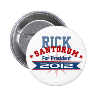 Rick Santorum 2012 Pinback Buttons