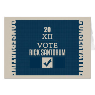 Rick Santorum 2012 Card