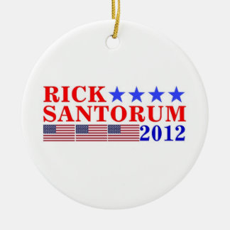 RICK SANTORUM 2012 CERAMIC ORNAMENT