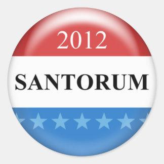 Rick Santorum 2012 Classic Round Sticker