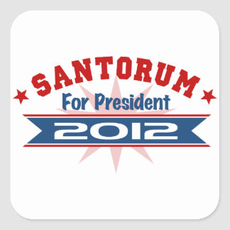 Rick Santorum 2012 Pegatina Cuadradas Personalizadas