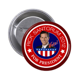Rick Santorum 2012 Pin Redondo 5 Cm