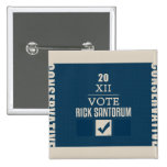 Rick Santorum 2012 Pinback Button