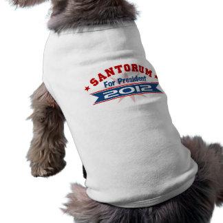Rick Santorum 2012 Camisetas De Perrito