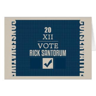 Rick Santorum 2012 Tarjeta De Felicitación