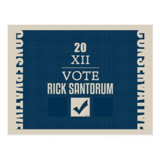 Rick Santorum 2012 Tarjetas Postales