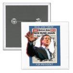 Rick Santorum 2016 Pin Cuadrado