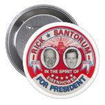 Rick Santorum 2016 Pin Redondo De 3 Pulgadas