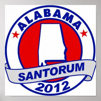 Rick Santorum Alabama Posters