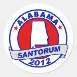 Rick Santorum Alabama Pegatinas Redondas