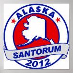 Rick Santorum Alaska Poster
