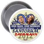 Rick Santorum and Michele Bachmann in 2012 4 Inch Round Button