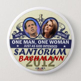 Rick Santorum and Michele Bachmann in 2012 Button