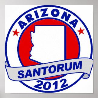 Rick Santorum Arizona Posters